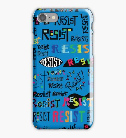 Resist Them blue iPhone Case/Skin