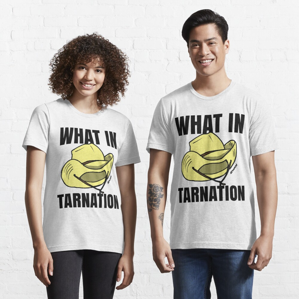 What in Tarnation Meme Cowboy Hat Essential T-Shirt