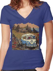 Grateful Dead -  Bear Vacation Women's Fitted V-Neck T-Shirt