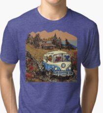 Grateful Dead -  Bear Vacation Tri-blend T-Shirt