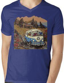 Grateful Dead -  Bear Vacation Mens V-Neck T-Shirt