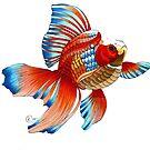 """Mr. Goldfish"" by Winterberry  Farm Studio"