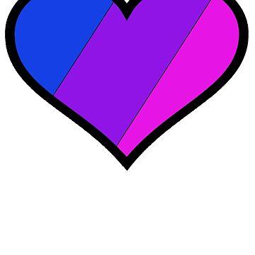 Bi Pride Heart by RJEzrilou