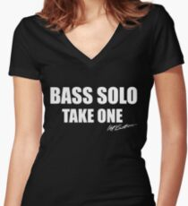 Bass Solo, Take One Women's Fitted V-Neck T-Shirt