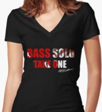 Bass Solo, Take One KEA  Women's Fitted V-Neck T-Shirt