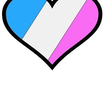 Trans Pride Heart by RJEzrilou