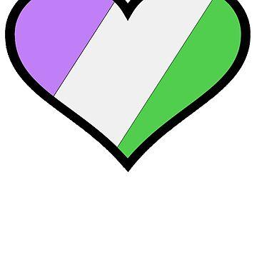 Genderqueer Pride Heart by RJEzrilou