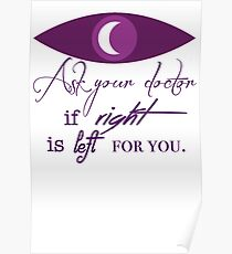 Right/Left Poster