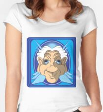 Funny Old Man Cartoon Women's Fitted Scoop T-Shirt