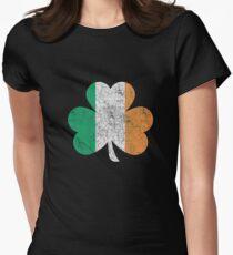 Irish Shamrock St Patrick Day Women's Fitted T-Shirt