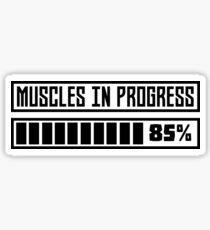 Muscles in progess workout R1k6x Sticker