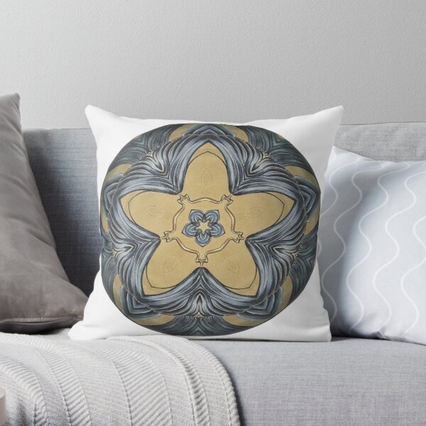 Art Deco Mandala Throw Pillow