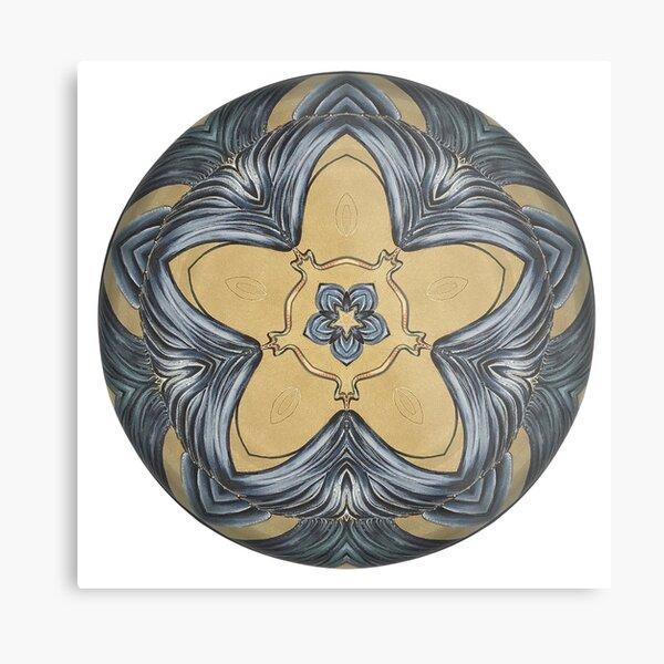 Art Deco Mandala Metal Print
