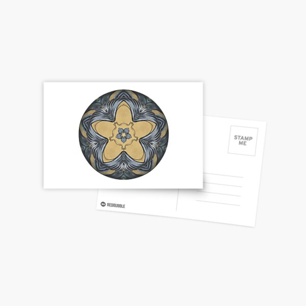 Art Deco Mandala Postcard