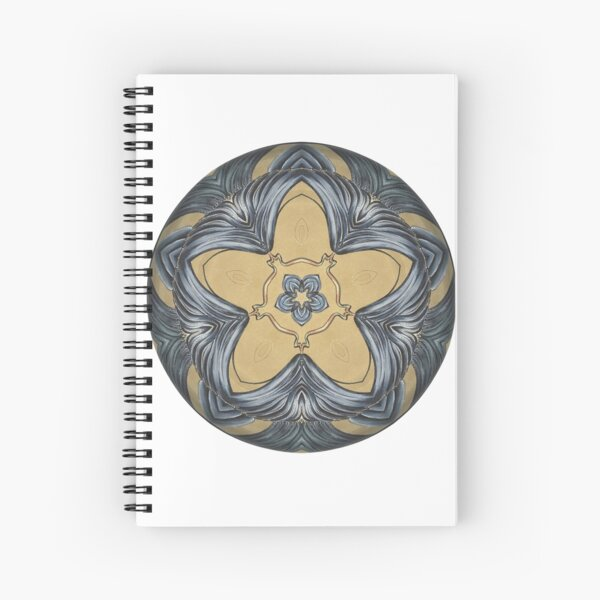 Art Deco Mandala Spiral Notebook