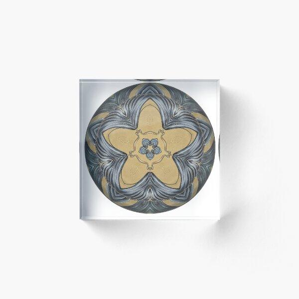 Art Deco Mandala Acrylic Block