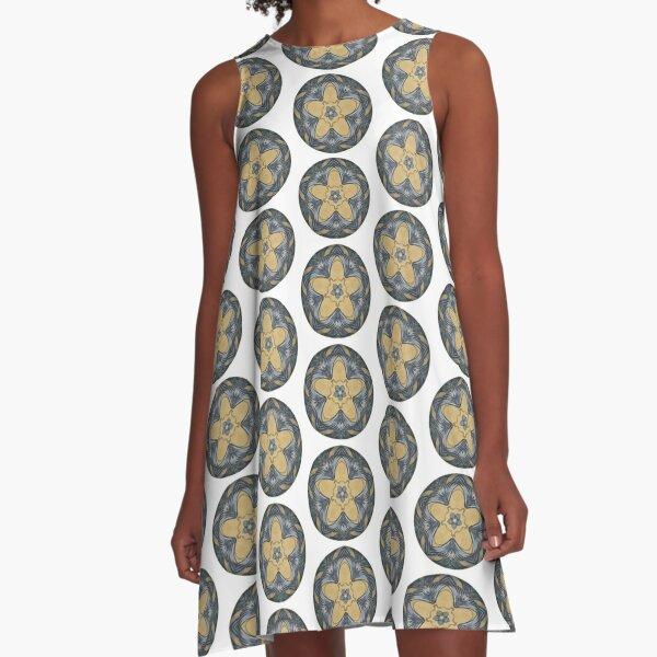 Art Deco Mandala A-Line Dress