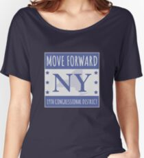 Move Forward New York Logo Tee Women's Relaxed Fit T-Shirt