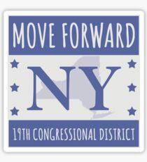 Move Forward New York Logo Tee Sticker