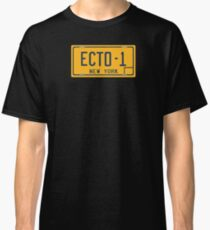 Ghostbusters - Ecto-1 License Plate - Clean Classic T-Shirt
