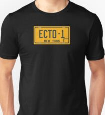 Ghostbusters - Ecto-1 License Plate - Clean T-Shirt