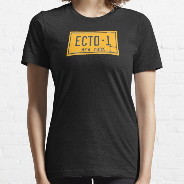 Ghostbusters - Ecto-1 License Plate - Clean Essential T-Shirt
