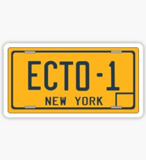 Ghostbusters - Ecto-1 License Plate - Clean Sticker