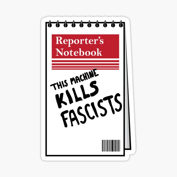 Reporters Notebook Sticker
