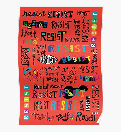 Resist Them scarlet red Poster