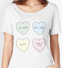 Sassy Hearts Women's Relaxed Fit T-Shirt