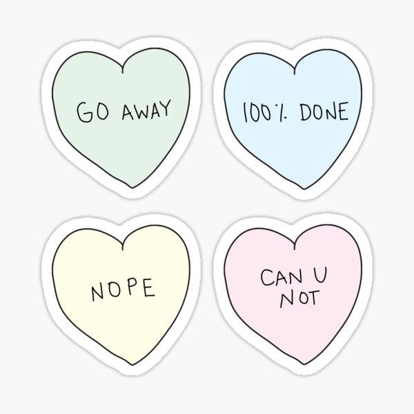 Sassy Hearts Sticker