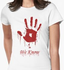 "AWESOME Dark Brotherhood ""We Know"" Women's Fitted T-Shirt"