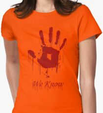 "AWESOME Dark Brotherhood ""We Know"" Womens Fitted T-Shirt"