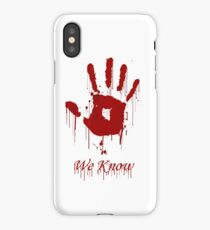 "AWESOME Dark Brotherhood ""We Know"" iPhone Case/Skin"