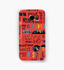 Resist Them scarlet red Samsung Galaxy Case/Skin