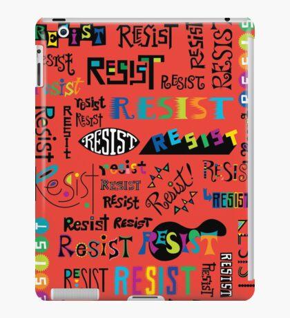 Resist Them scarlet red iPad Case/Skin