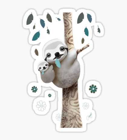 Baby Sloth Midnight Sticker
