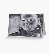Baby With A Message Greeting Card