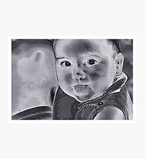 Baby With A Message Photographic Print