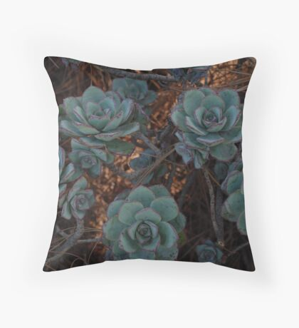 Stone Flowers Throw Pillow
