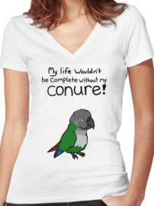 My Life - Conure! Women's Fitted V-Neck T-Shirt