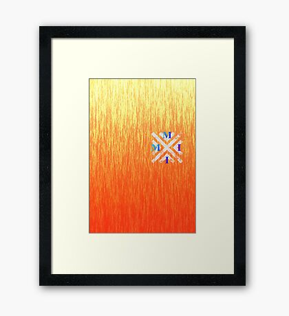 MMII Fire Gradient Framed Print