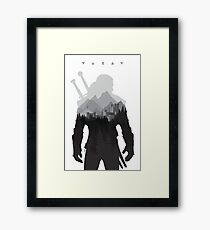 The Witcher 3 - Geralt of Rivia (Signs) Framed Print