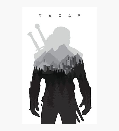 The Witcher 3 - Geralt of Rivia (Signs) Photographic Print