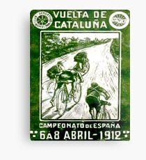 VUELTA DE CATALUNA; Vintage Bike Racing Print Metal Print