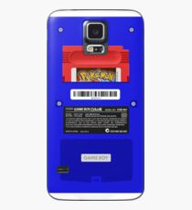Blue GameBoy Color Back - Red Cartridge Case/Skin for Samsung Galaxy
