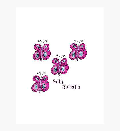 Silly Butterfly Photographic Print