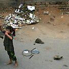 The streets of India by Nikolay  Dimitrov