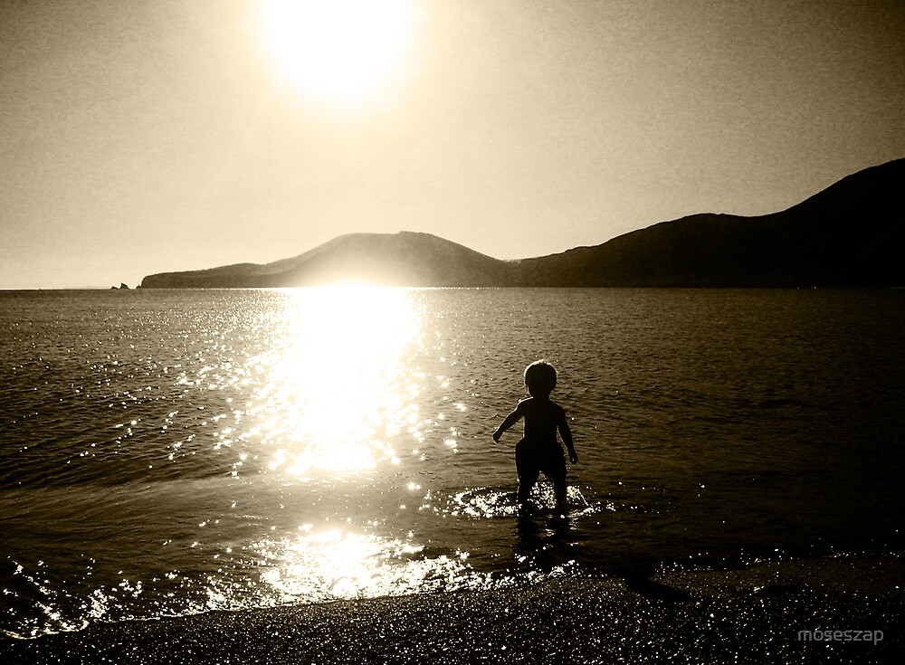 paddling at dusk by moseszap