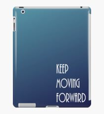Keep Moving Forward Blue Gradient iPad Case/Skin